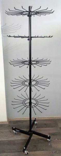 Εκθέτης δαπέδου με 5 στεφάνια 20 ακτίνων